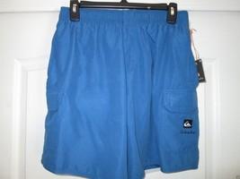 Quiksilver Shirred Waistband Drawstring Men's Board Shorts Blue S (29-31) - $35.14
