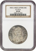1832 50c NGC XF45 (Large Letters, O-101A) Bust Half Dollar - $320.10
