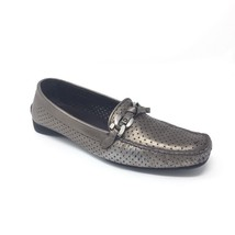 Stuart Weitzman Sz 8 N Pewter Grey Perforated Loafers Moc Toe Shoe Made ... - $24.14