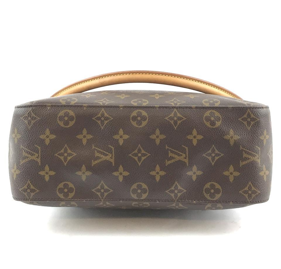 #33576 Louis Vuitton Looping Bucket Gm Tote Brown Monogram Canvas Shoulder Bag image 4
