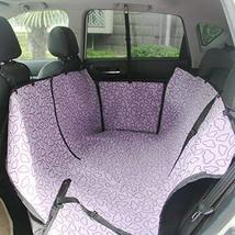 PANDA SUPERSTORE Waterproof Bench Seat Dog Car Seat Cover Purple Cloud
