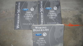 2009 Ford Taurus Taurus X Mercury Sable Service Shop Repair Manual Set O... - $44.50