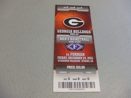 Furman Paladins vs Georgia Bulldogs (12-23-2011) Basketball Ticket Stub  - $3.12