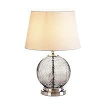 Table Lamps For Living Room, Gray Cracked Glass Bedroom Light Bedside De... - $110.85