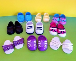 "18"" Doll Shoes Lot Of 9 Pairs For American Girl And Our Generation Dolls - $32.85"