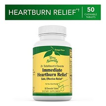 Terry Naturally Immediate Heartburn Relief - 50 Chewable Tablets - Vitam... - $9.55