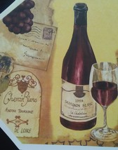 WINE Design PLACEMATS Set of 4 Vinyl Octagon French Italian Vineyard Chateau NEW image 3