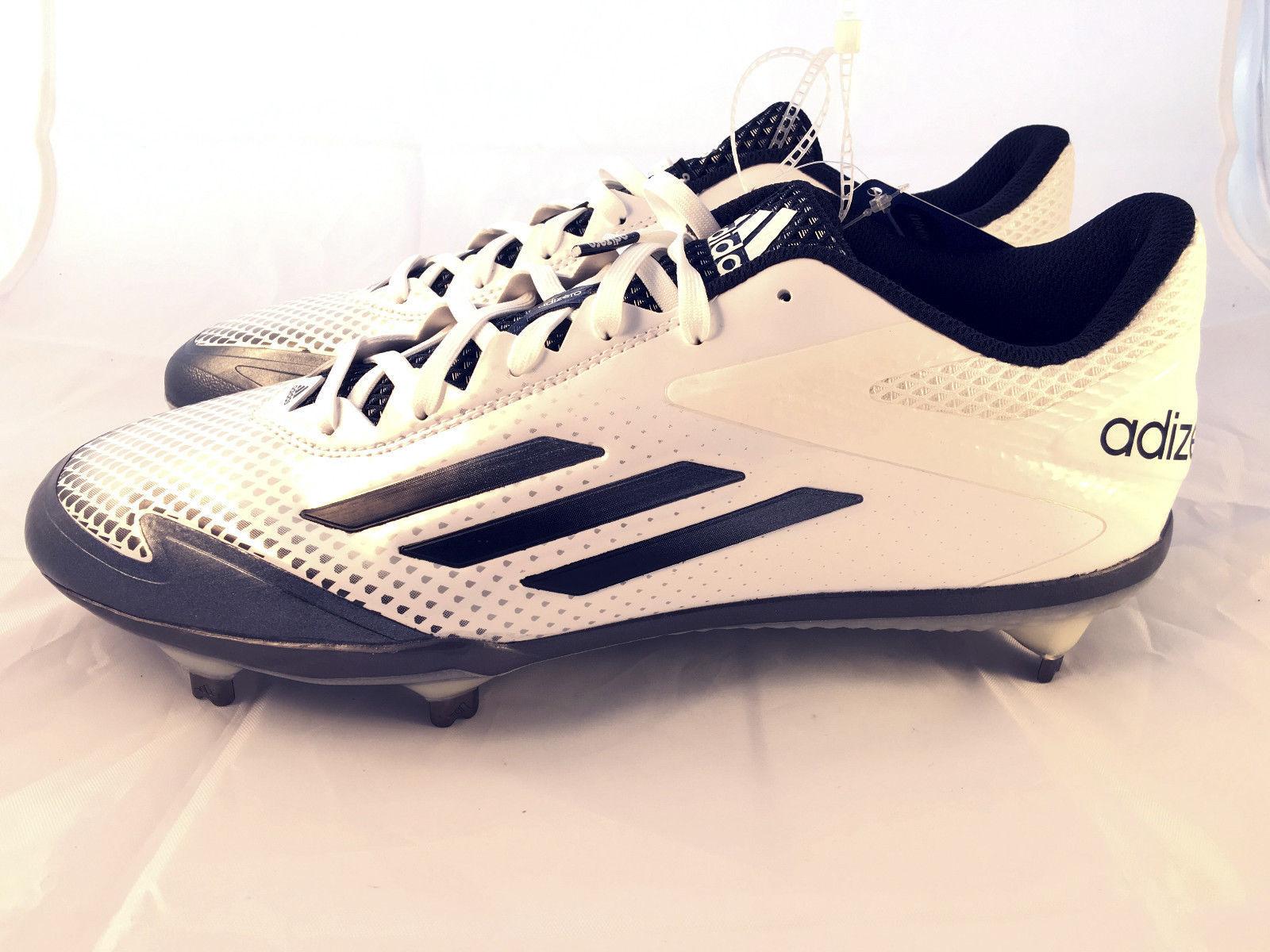 cheap for discount 45e45 a3448 ... Mens Adidas Adizero Afterburner 2.0 Metal Baseball Cleats White S85704  Sz. 10 ...