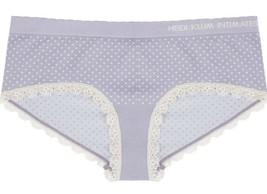 NEW Heidi Klum Intimates Peony Dots Lace Trim Seamless Hipster Bikini Panty NWT