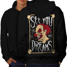 Clown Dream Scary Horror Sweatshirt Hoody  Men Hoodie Back - $20.99+