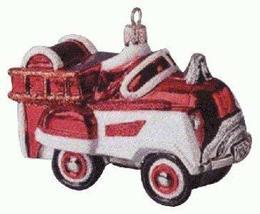 Hallmark QBG6909 1955 Murray Fire Truck Blown Glass 1998 Keepsake Ornament - $19.26