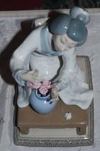 LLADRO 4840 Oriental Porcelain Girl Arranging Flowers, Comes w/ Original... - $149.59