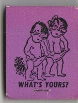 Vtg Strike on Matchbook  of Jim & Jan  What's Yours (purple) Restaurant Ad - $11.87