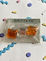 Vintage 80's Jeweled Pin Orange - $10.99