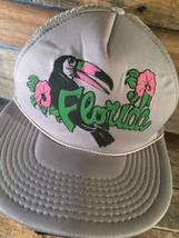 Florida Vogel Blumen Grau Trucker Netz Snapback Erwachsene Kappe Hut - $10.41