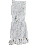 Hand-made White Scarf Crocheted