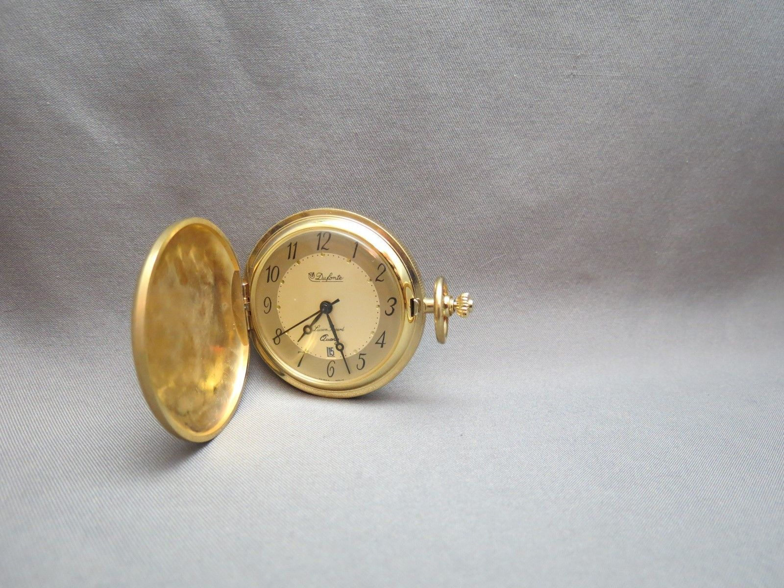 Dufonte Pocket Watch Lucien Piccard Gold Plated Quartz New Twenty Dollar Gold Pc