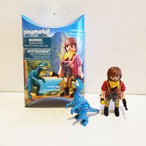 Playmobil Dino Adventure Promo Figure NYTF Toy Fair 2019 Girl w/ Dinosasaur - $18.81