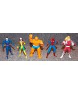 1994 Marvel Die Cast Metal Lot of 5 Figures Spiderman Thing Rogue & More - $29.99