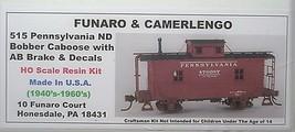 Funaro & Camerlengo HO PRR ND Bobber Caboose w/ AB Brake kit 515 image 1