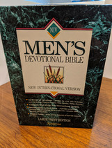 Men's Devotional Bible NIV New International Version Red Letter 1994 wit... - $11.13