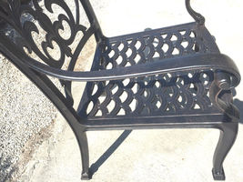 Outdoor dining chairs set of 6 cast aluminum patio furniture rust free image 5