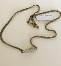Silpada Brass Woven 2 WAY NECKLACE OR WRAP BRACELET DOUBLE WHITE STONE NEW - $14.11