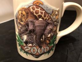 "2000 Disney's Animal Kingdom Large MUG Dimensional Pictures on Mug 4-3/4"" - $16.45"