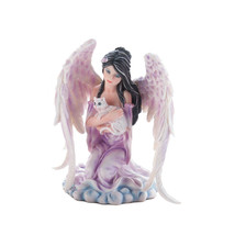 Fairy Figurines And Statues, Miniature Fairy Figurines, Angel With Cat F... - $28.93