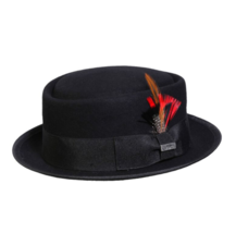 NEW Conner Hats Mumford Pork Pie Crushable Wool Black Fedora C1080 - €46,87 EUR