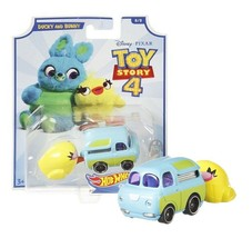 Hot Wheels Toy Story 4 Ducky and Bunny Character Cars 8/8 Mint on Card - $12.88