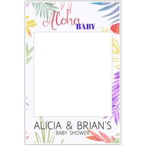 Aloha Baby Shower Selfie Frame Social Media Photo Prop Poster - £12.41 GBP+