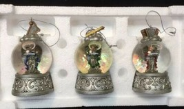 Home For The Holidays Waterglobe Angel Christmas Ornaments Set 3 New Ope... - $18.80