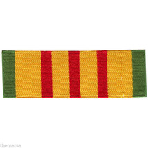 VIETNAM SERVICE RIBBON VETERAN MILITARY BIKER 4.5 INCH EMBROIDERED PATCH - $15.33