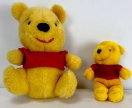 """Sears Disney Vintage Winnie Pooh Gund Lot 11"""" & 7"""" Plush Stuffed Animal - $29.69"""