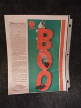 BOO Halloween Hanger Woodworking Craft Pattern - $1.23