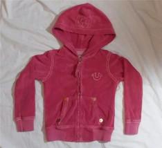 TRUE RELIGION BIG T Girls XS HOODED ZIPPER SWEATSHIRT WINTER Zip Up Hood... - $17.99