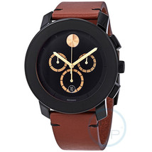 Movado Unisex 3600540 TR90 Chronograph Brown Leather Watch - $457.63
