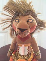 """Disney Lion King Broadway Musical SIMBA Bean Bag Plush 11"""" African Tribal image 7"""