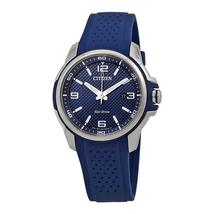 Citizen Mens Blue Silicone Watch Eco-Drive Sport AW1158-05L image 1