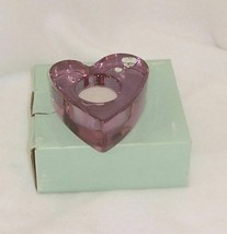 PartyLite Purple Passion Votive Holder Purple Glass Heart P7787 - $10.84
