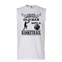 Never Underestimate An Old Man With A Baseketball  T Shirt, Coolest Base... - $26.99+