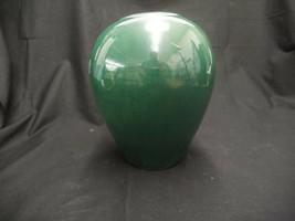"Royal Haeger Dark Green Pottery Vase Dundee Ill 8"" Tall X 7"" Across X 2"" Opening - $33.24"