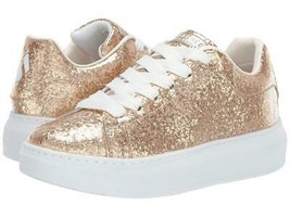 Skechers DINAH Gold Glitter Specks Clear Overcoat Platform Sneakers Wms ... - $54.99