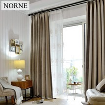 Striped Heavy Blackout Curtain 80% Shading Rate,Thermal Insulated Privac... - $30.00