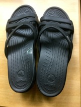 Crocs Womens Sandals Black  Size 11 Slides New w/o box - $16.00
