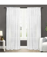 Exclusive Home Curtains Barcelona Sheer Window Curtain Panel Pair with R... - $61.46