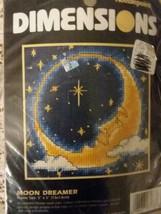 "Dimensions  Mini Needlepoint Kit Moon Dreamer 7173 Frame Size 5"" X 5"" New - $11.87"