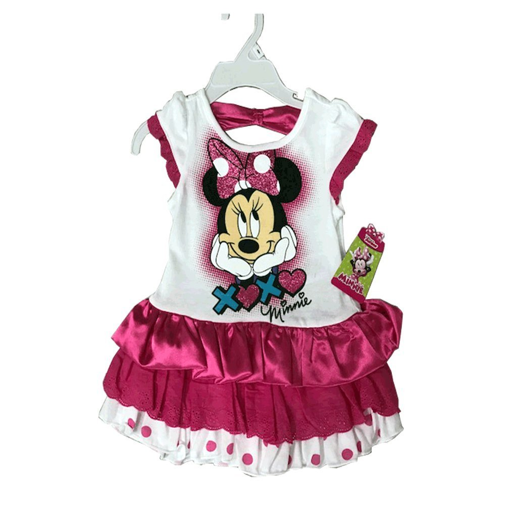 Primary image for DISNEY COTTON/SATIN DRESS 2T-4T (4T, MINNIE PINK)