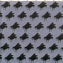 Perfect Pitch Piano Gray Grey RJR premium 100% Cotton Fabric by the Yard - $11.75